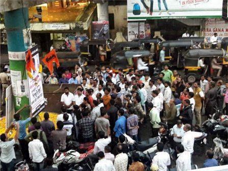 महाराष्ट्र बंदचे पडसाद; सावर्डेत मुंबई-गोवा महामार्ग रोखला