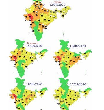 मध्य महाराष्ट्र, कोकण, गोवासह देशाच्या अन्य भागात मुसळधार पावसाचा इशारा