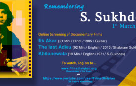 Films Division pays tribute to well known film maker S. Sukhdev