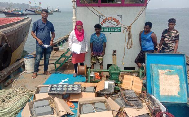 एलईडीद्वारे मासेमारी करणाऱ्या गुहागरधील नौकेवर कारवाई