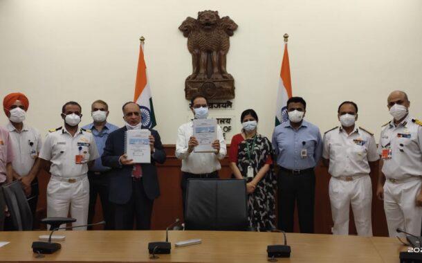 भारतीय तटरक्षक दलासाठी दोन प्रदूषण नियंत्रण जहाजांच्या बांधकामासंदर्भात संरक्षण मंत्रालयाचा जीएसएलसोबत करार